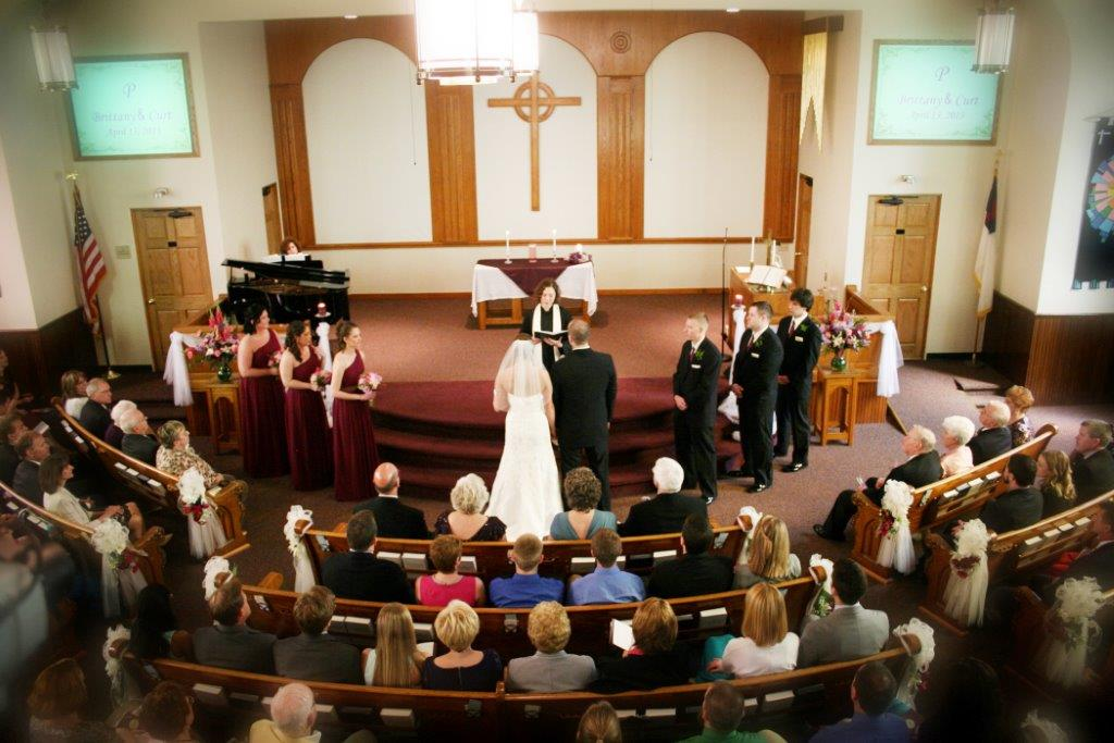 wedding in the sanctuary